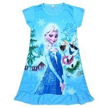Платье для девочек; рождественское платье Эльзы; Детские платья для девочек; Vestido infantil; одежда для детей