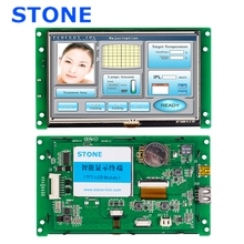 5 open frame TFT LCD display module with CPU,  work any MCU/ microcontroller