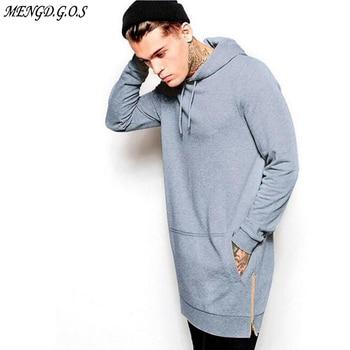 New Arrival Black Solid Fleece Hip Hop Oversize Men Hoody Longline Fashion Hoodies Sweatshirts Men Free Shipping free shipping new 2mbi600vn 120 50 module page 9