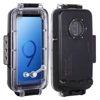 PULUZ 40m underwater waterproof case for Samsung Galaxy S9+ waterproof shell water sports diving skiing snowing protective case