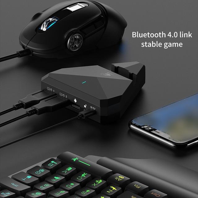 Nouveau manette Mobile G5 manette Mobile clavier souris convertisseur adaptateur Dock pour Android IOS jeu Mobile pour PUBG Plug And Play