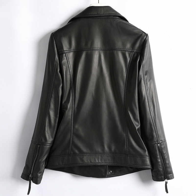 겨울 가을 정품 가죽 자켓 여성 의류 2020 한국어 Streetwear 진짜 양피 코트 여성 Chaqueta Mujer D003