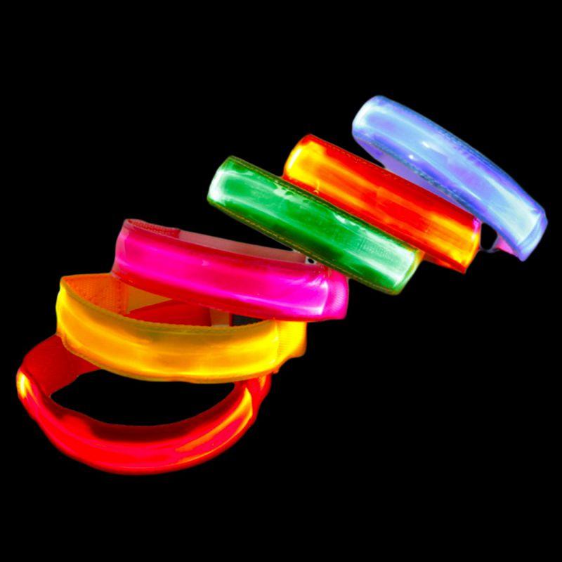 Sport Led Flashing Illuminates Glitter Bracelet Party Props Gift Outdoor Gym Running Cycling Light Lamp Arm Belt