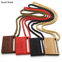 Wooden necklace pendant / portable radio street dance jewelry hip hop wholesale dropshipping