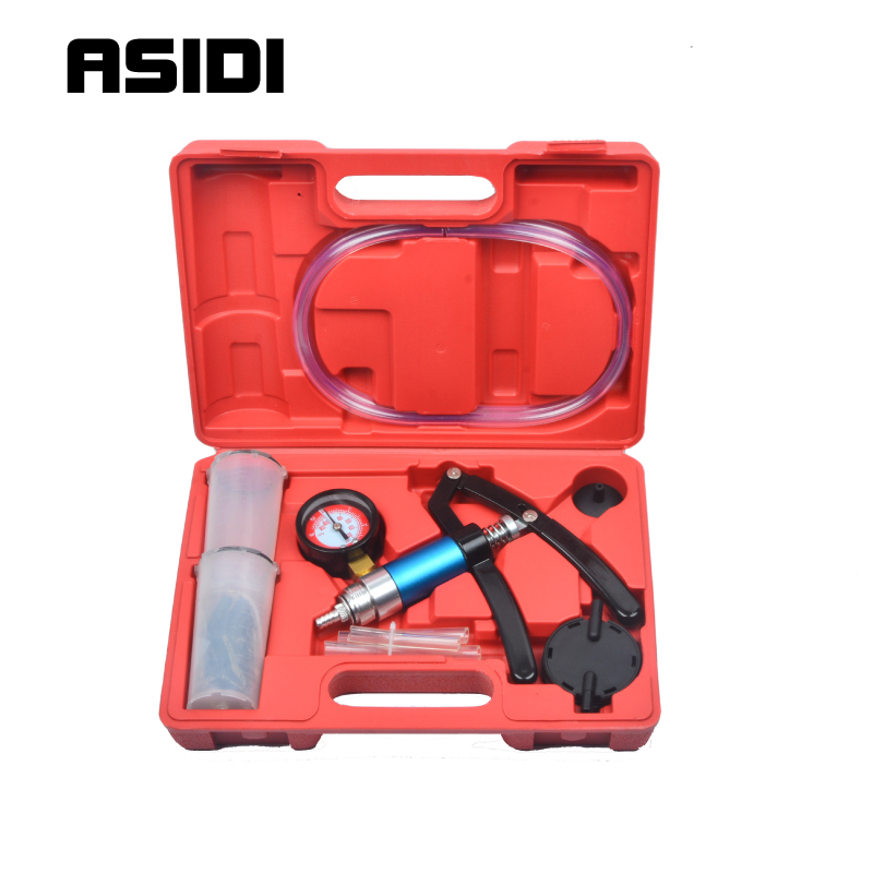 Hand Held Vacuum Pressure Pump Tester Brake Fluid Bleeder Bleeding Kit Tools PT1790