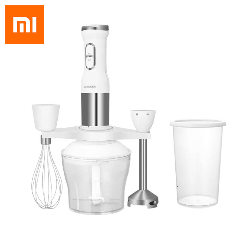 2019 New XIAOMI MIJIA QCOOKER CD HB01 hand Blender Electric Kitchen Portable Food Processor mixer juicer Multi function Of Quick|Blenders| |  - title=