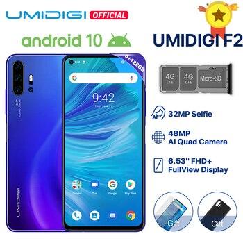Перейти на Алиэкспресс и купить UMIDIGI F2 телефон, Android 10, экран 6,53 дюймов, 6 ГБ 128 ГБ, четырёхъядерный, камера 48 МП