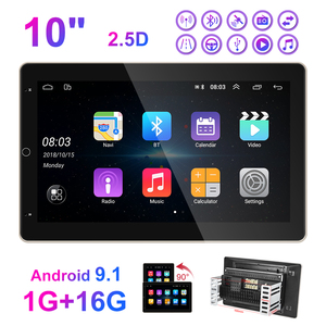 """Image 2 - Podofo Car Radio 2 Din Android GPS Wifi Audio Stereo Navigation Car Stereo 10"""" Universal Car Player for VW Polo golf 5 6 Toyota"""