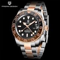 PAGANI DESIGN-reloj mecánico GMT para hombre, de acero inoxidable, zafiro, deportivo, resistente al agua, de negocios, 40mm, nuevo