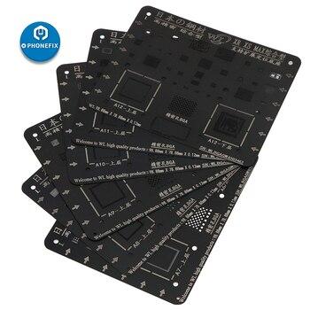 WL Black Steel Mesh Reballing Stencil Tin Planting Template For IPhone 5 6 7 8 X XS MAX XR Motherboard BGA Reballing Stencil