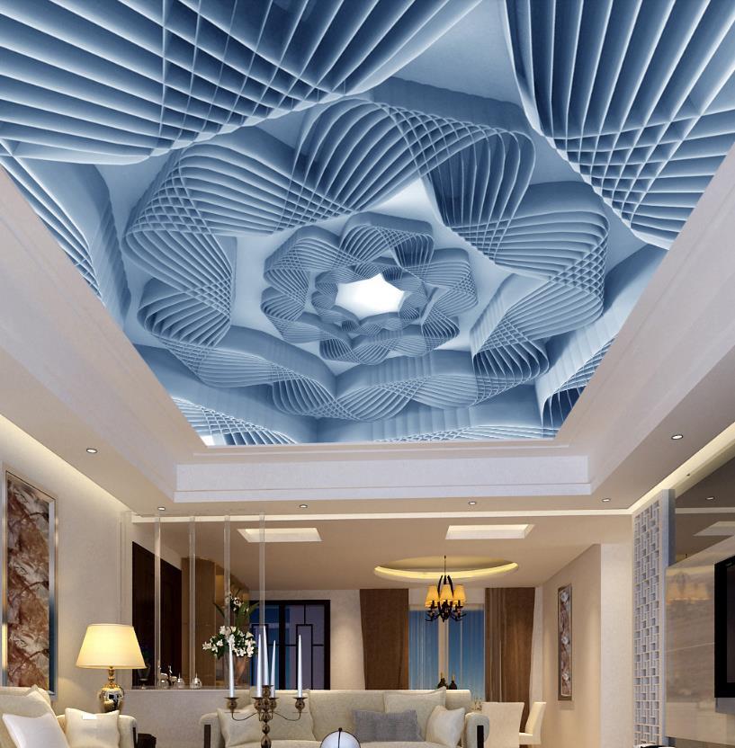 Фотообои 3D потолочный Euporean с рисунком обои для ванной потолка домашний декор