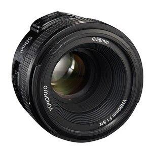 Image 4 - YONGNUO YN50mm F1.8 nikon için lens D800 D300 D700 D3200 D3300 D5100 DSLR kamera canon lensi EOS 60D 70D 5D2 5D3 600D orijinal