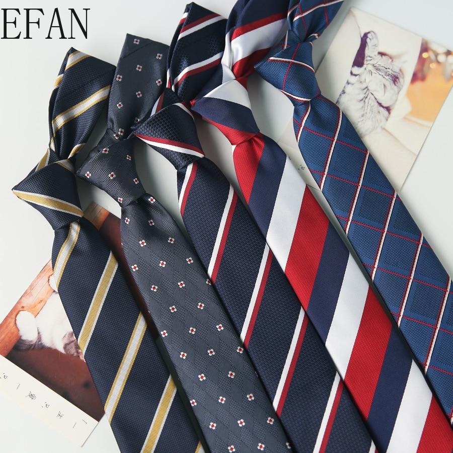 6cm New Skinny Men's Ties Luxury Man Floral Dot Striped Plaid Neckties Hombre Gravata Slim Classic Business Casual Tie For Men