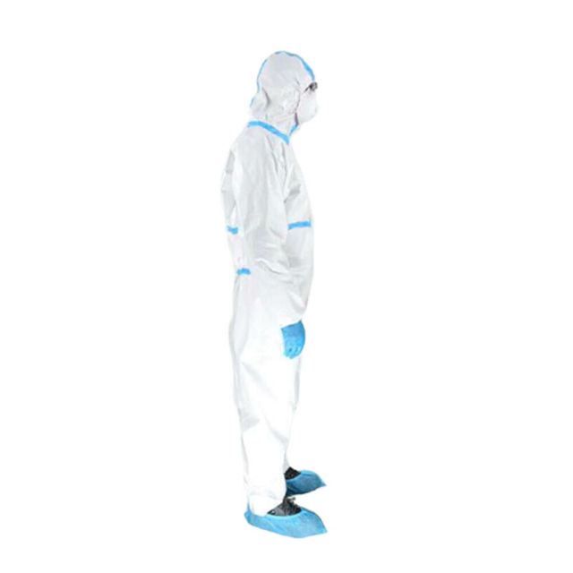 Professional PPE Suit Disposable Isolation Protective Clothing Coveralls Safety Hazmat Suit Non-woven Safety Clothing 3
