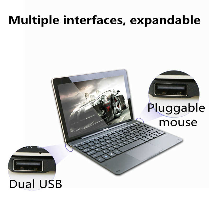 2in1 Tablet PC 10.1 inch Windows 10 Tabletten Trail-T3 Z735 Quad Core 1280*800 Scherm 2GB & 32GB Micro USB Windows Tablet 10.1