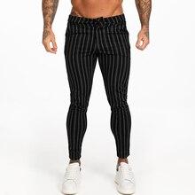 Pantalones Chinos ajustados para hombre, Pantalón elástico, color negro, para Otoño e Invierno