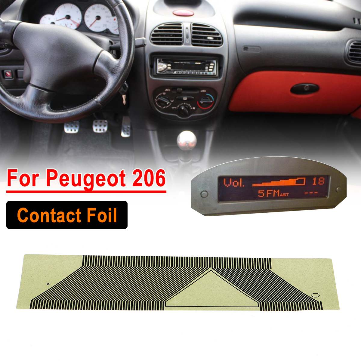 1Pcs Car LCD Display Pixel Repair Ribbon Cables Film Dashboard Fit For Peugeot 206