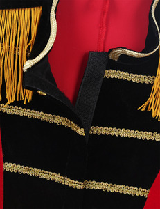 Image 5 - Kids Boys Children Circus Ringmaster Costume Fringes Gold Trimmings Tailcoat Jacket for Halloween Cosplay Carnival Clothes