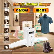 110-220V Electric Clothes Drying Rack LED UV Smart Hang Clothes Dryer Portable Outdoor Travel Mini Folding Clothing Shoes Heater