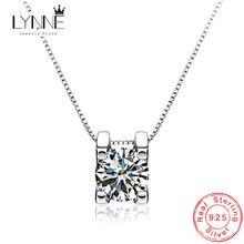 Женское ожерелье из серебра 925 пробы с круглым кубическим цирконием