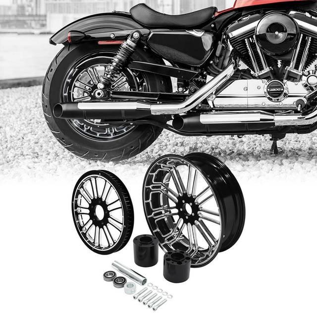 Motorcycle Rear Wheel Rim w/ Hub Set 2
