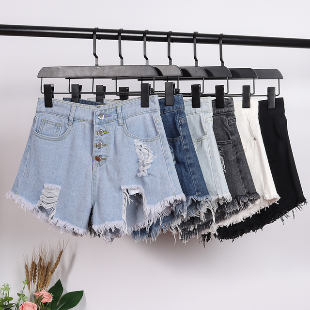 2020 New Arrival Casual Summer Hot Sale Denim Women Shorts High Waists fur-lined leg-openings Plus Size Sexy Short Jeans Women's Clothing & Accessories