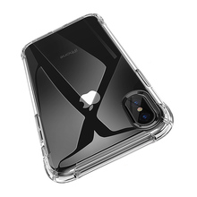 Transparent Silicone Phone Back Cover Case for iphone 7 Shockproof Cle