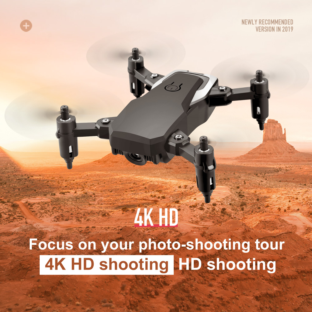 LF606 Foldable RC  With 4K HD Camera  Hold 3D  Headless Mode Mini APP Control RC Helicopter Aircraft Airplane