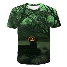 Camiseta de manga corta 3D de Halloween Camiseta con cara de calabaza Camiseta con estampado de hombres y mujeres S-6XL 2021 Cam