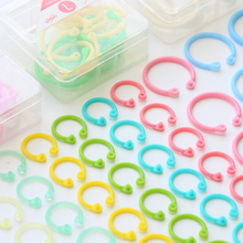 Circle-Ring Plastic for DIY Album Book-Binder Hoops Office Colorful Loose-Leaf