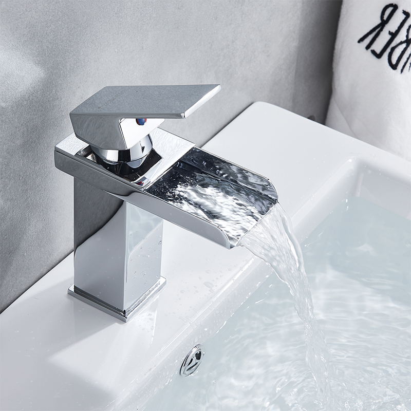 Wholesale And Retail Deck Mount Waterfall Bathroom Faucet Vanity Vessel Sinks Mixer Tap Cold And Hot Wholesale And Retail Deck Mount Waterfall Bathroom Faucet Vanity Vessel Sinks Mixer Tap Cold And Hot Water Tap