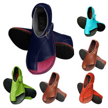 Fashion 2020 Women Shoes Soft Genuine Leather Sandals Female Flat Casual Summer Beach Buckle
