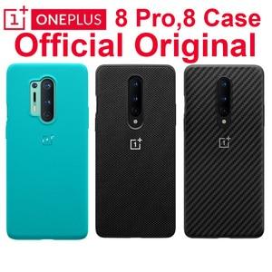 Image 1 - Original Official OnePlus 8 Pro Case Andre Kevlar Karbon Carbon Sandstone Nylon Oneplus 6T 7 7T Pro Case Back Cover Shell
