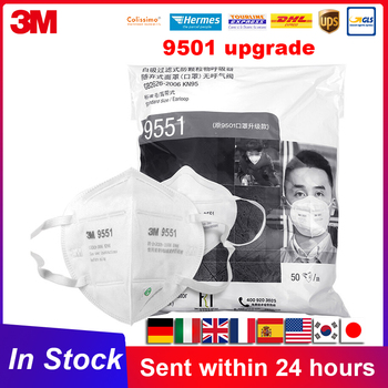 N95 Mask 3M 9551 9552 KN95 Reusable Face Masks Respirator PM2.5 Filter Headband Safety Breathe Mouth Mask Original 3M In Stock