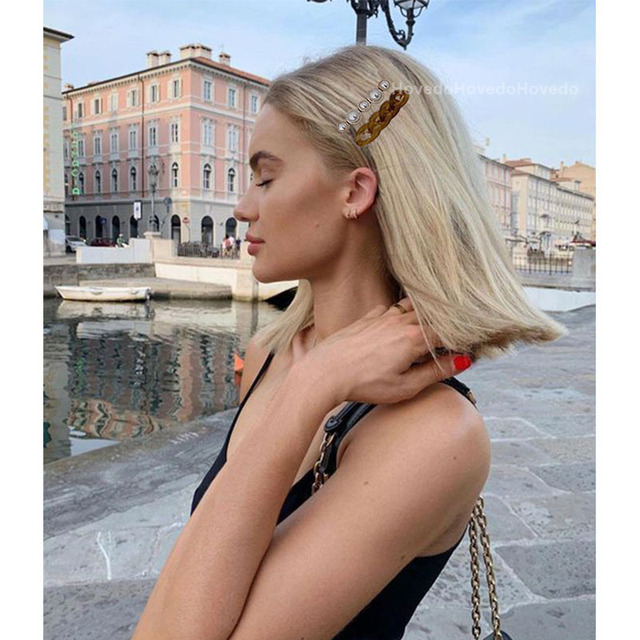 New Handmade Chain Hair Clips Gold Color Long Barrettes Hair Clips for Women Girls Korean Fashion Hairpin Hair Accessories Gifts 2