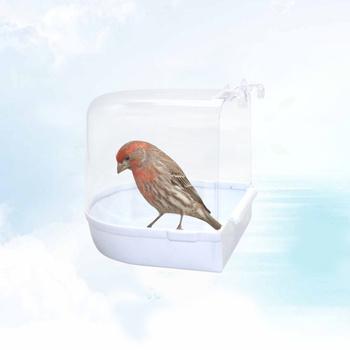 Klatkowe oczko wodne Multi Cage oczko wodne pokryte dla małych druhen papuga kanarek papuga (biała) tanie i dobre opinie Ptak Kąpiele AE (pochodzenie) RUBBER