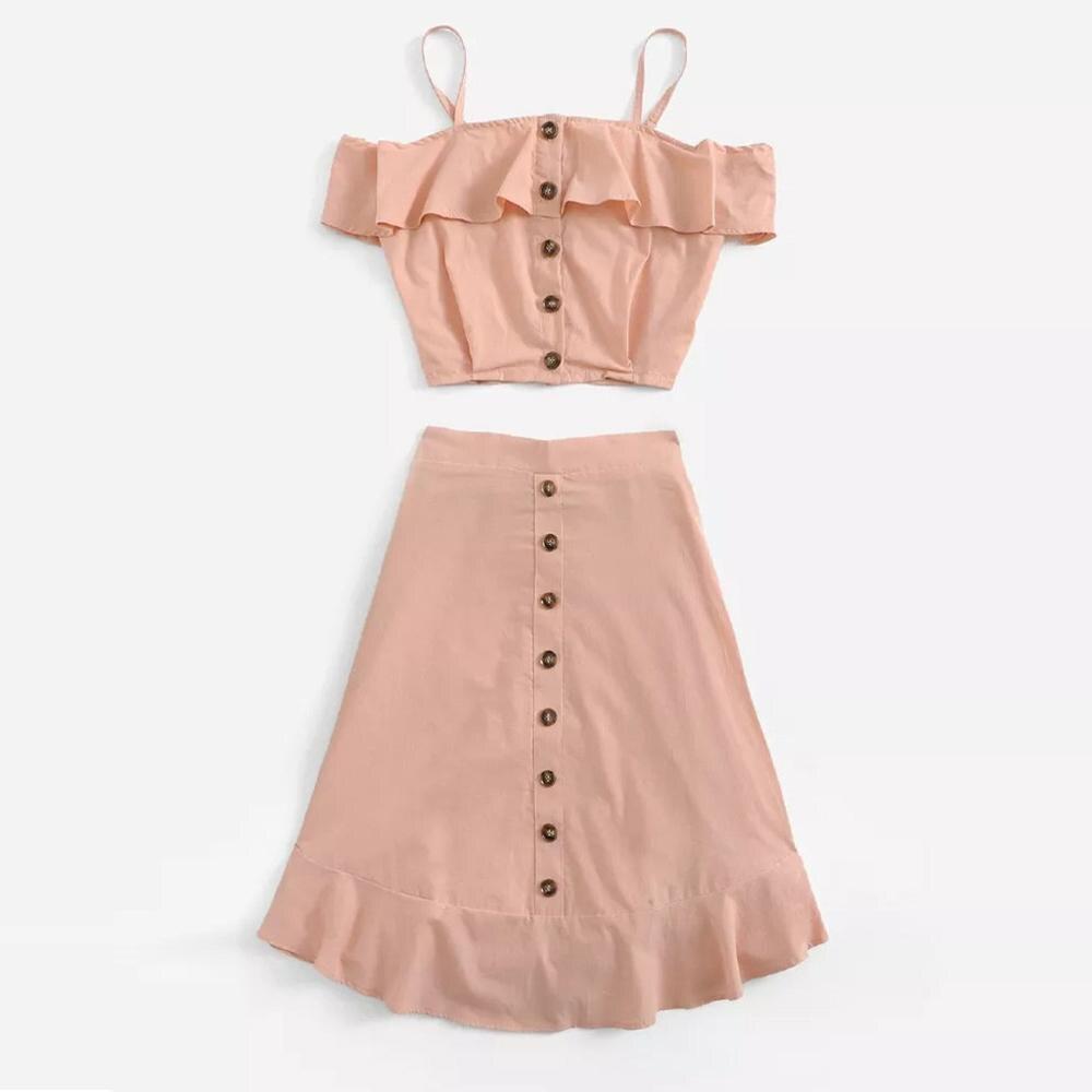 sleeveless summer costumes for women Sexy Slim Navel Vest 2 piece set women summer short Split Two-piece conjunto#G9