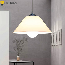 Nordic PVC Lampshade Pendant Lights Kitchen Fixtures Plastic Dinning Room Pendant Lamp Home Decor Lighting Supermarket Luminaire(China)