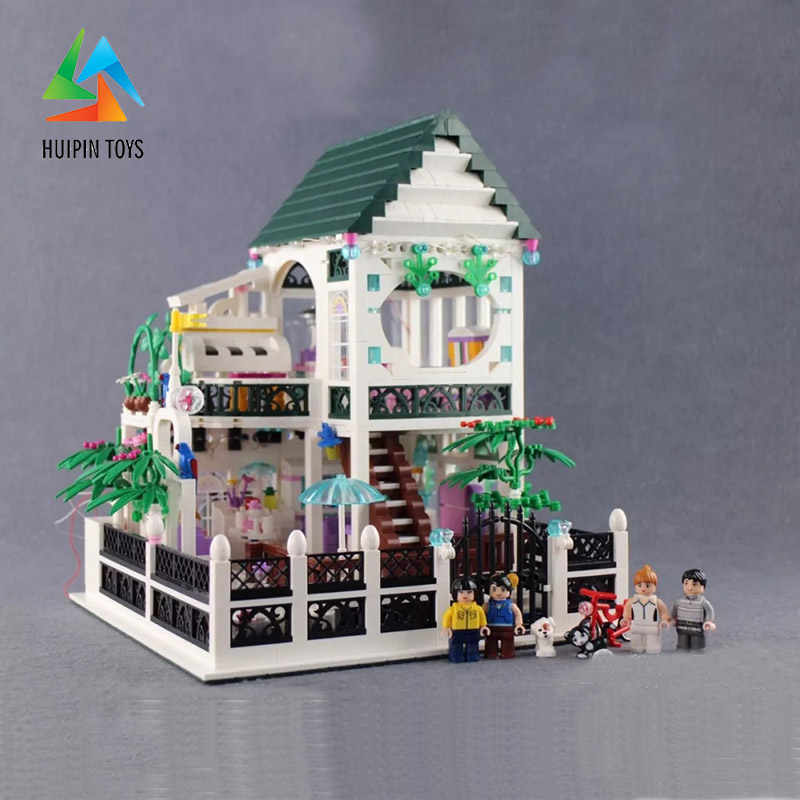 1500Pcs XINGBAO Building Blocks XB 01202 Compatible легоe Romantic Heart house with light Children Toys Bricks