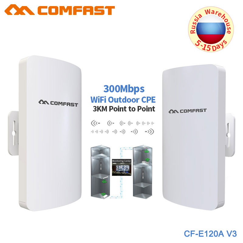 5.8G 300Mbps Outdoor Wifi CPE Wireless Bridge Wifi Repeater Amplifier Point To Point 1-3KM Wifi Transmission  Nanostation Router