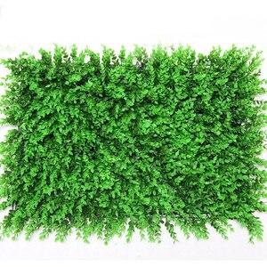 Image 5 - Planta de pared Artificial verde césped de plástico de eucalipto, bricolaje, balcón, Hotel, centro comercial, decoración de pared de paisaje