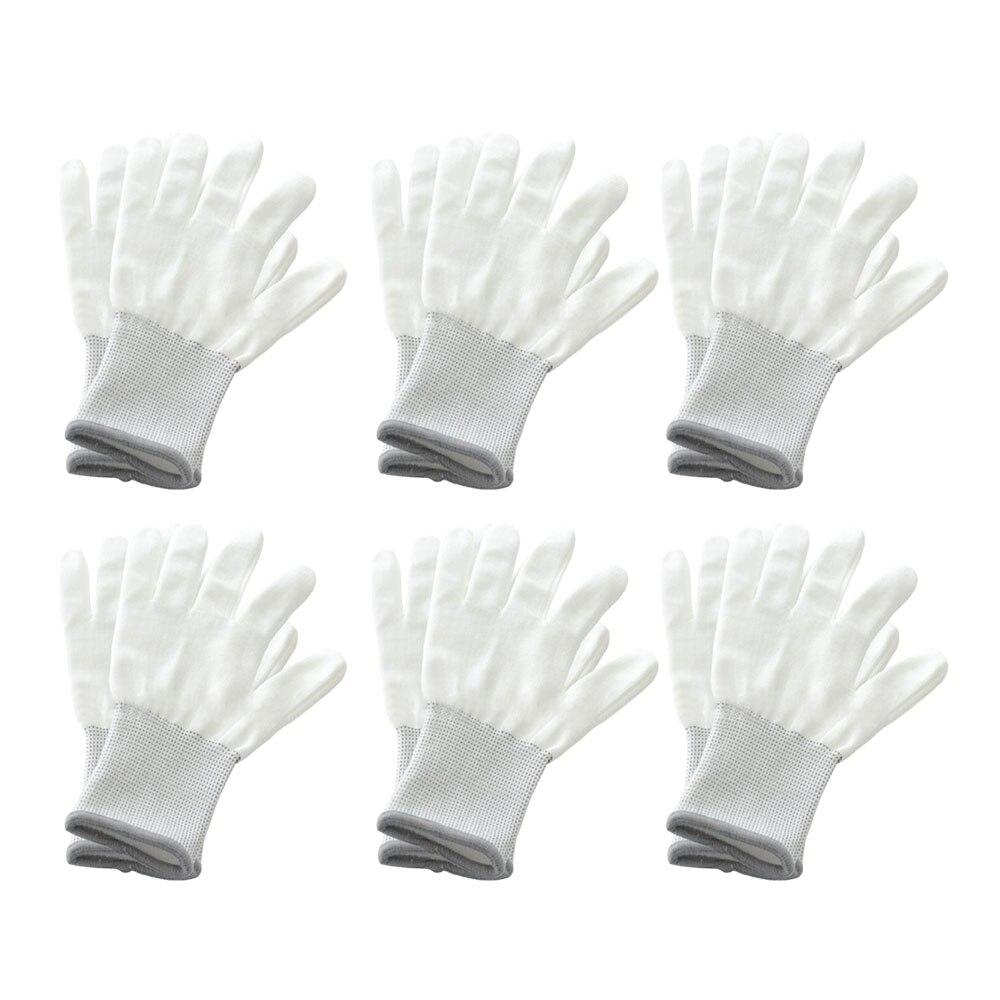 6 пар белых перчаток для обёртывания, инструменты для обертывания автомобиля, виниловая оконная наклейка, пленка