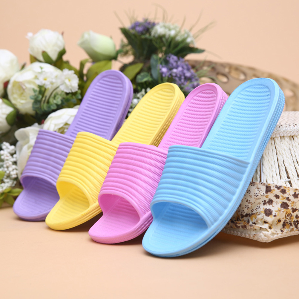 Hinmay Women Bath Slippers Non-Slip Summer Shower Sandals Soft Slip-On Pool Shoes