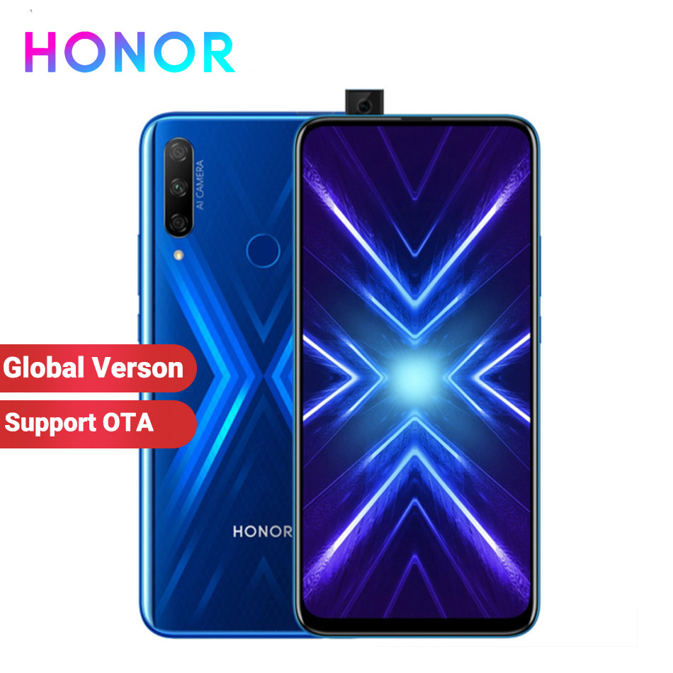 "Global Version Honor 9X 6GB 128GB Mobile Phone Kirin 810 Octa core 6.59"" Fingerprint 4000mAh 48MP Camera Anroid 9 4G SmartPhone"