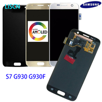 LISCN ORIGINAL SUPER AMOLED S7 LCD SAMSUNG Galaxy S7 G930 G930F Display Touch Screen Digitizer Replacement Assembly 100% TEST