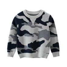 Одежда для детей; Свитер пуловер мальчиков рубчик Вязание Мягкие