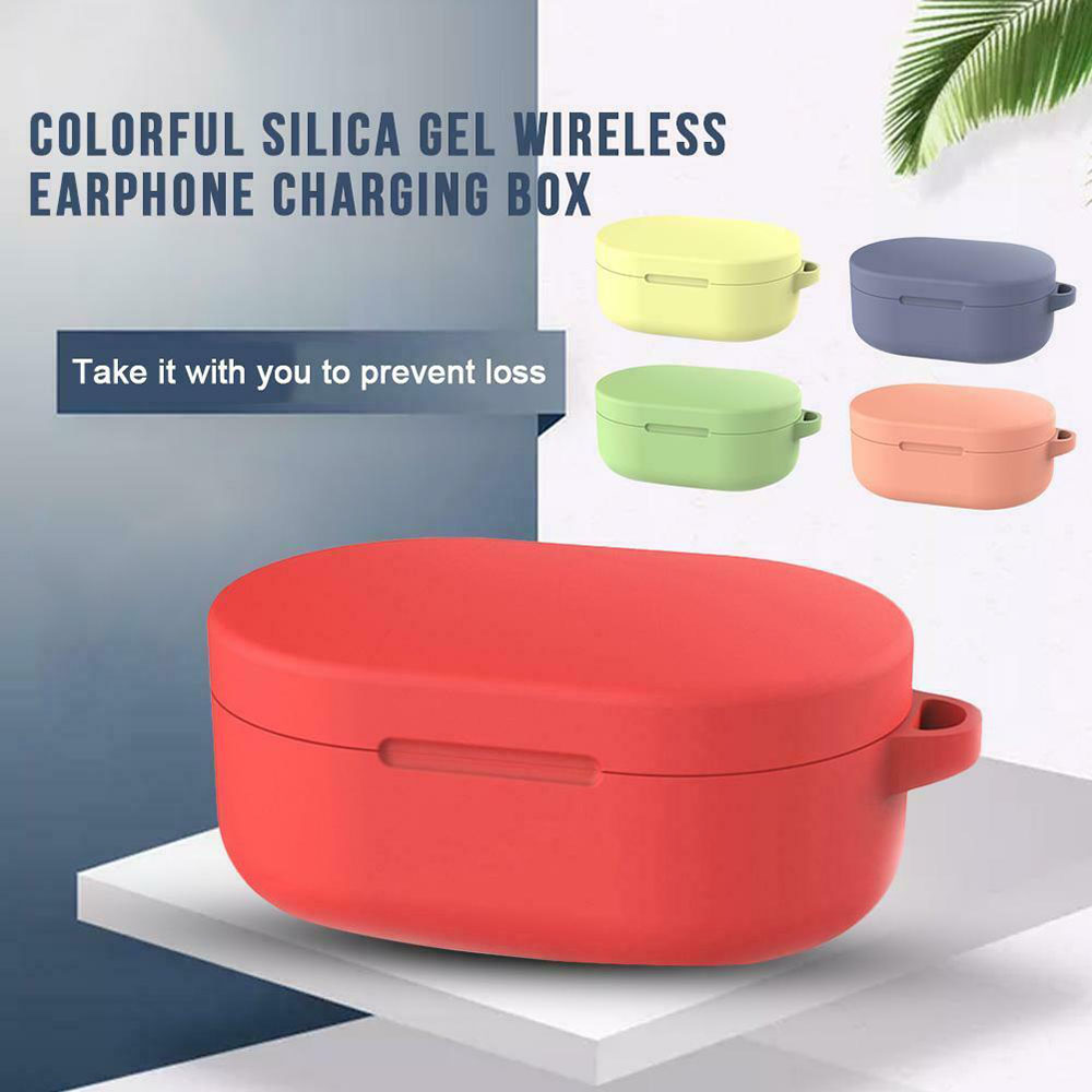 3 Style Silicone Protective Cover Earphone Case For Xiaomi Redmi Airdots TWS Wireless Bluetooth Headphone Headset Charging Box