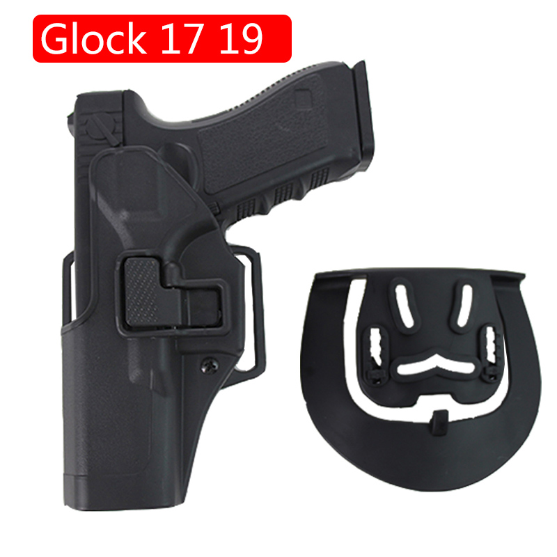 Tactical Airsoft Pistol Case Left /Right Hand Holster For Glock 17 19 22 23 31 32 Pistol Waist Belt Hunting Accessories