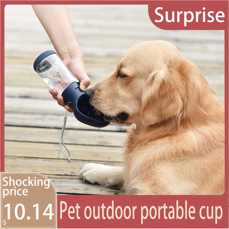For Dog Pet Drinker Dog Drinking Machine Dog Cup Automatic Kettle Accompanying Cup Water Feeder Outdoor Water Bottle 400MLdog