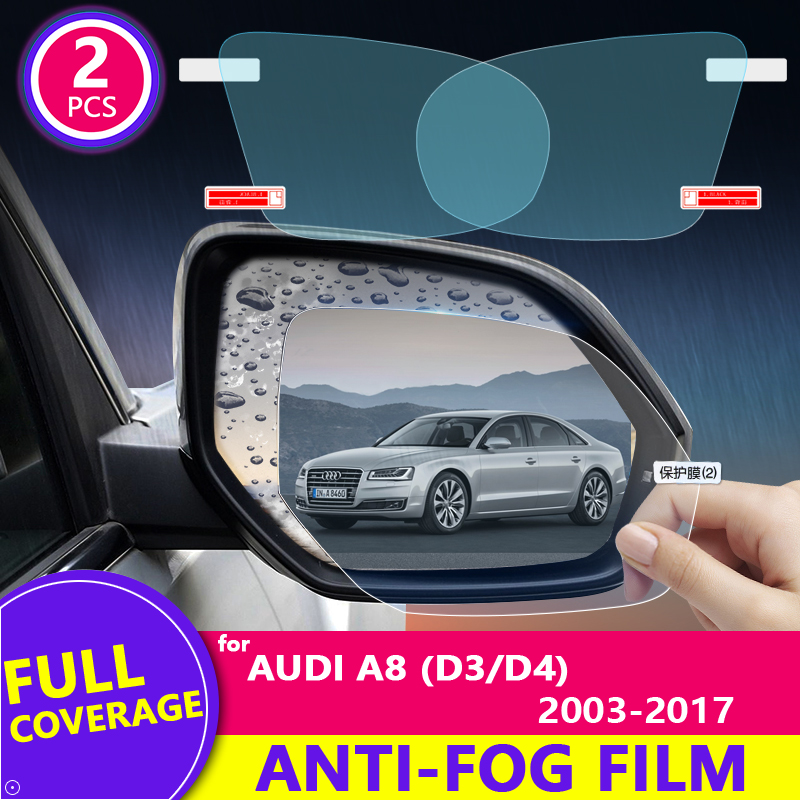 Full Cover Anti Fog Rainproof Film for <font><b>Audi</b></font> <font><b>A8</b></font> D3 D4 2003~2017 4E <font><b>4H</b></font> Car Rearview Mirror Protective Accessories S8 A8L 2015 2016 image